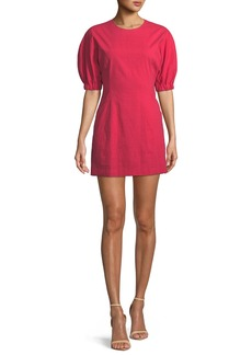 A.L.C. Valenti Blouson-Sleeve Mini Dress