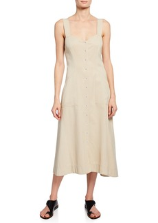 A.L.C. Varelli Sweetheart Sleeveless Midi Dress