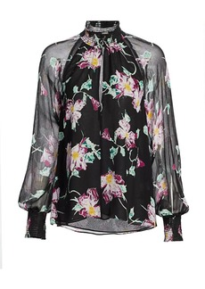 A.L.C. Venetia High-Neck Floral Top