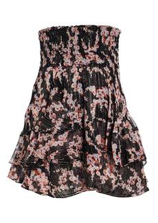 A.L.C. Vera Lurex Floral Mini Skirt