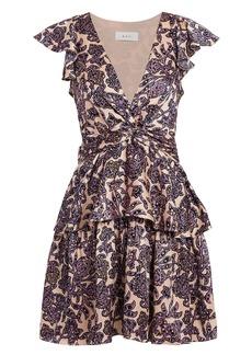 A.L.C. Viera Silk Ruffled Dress
