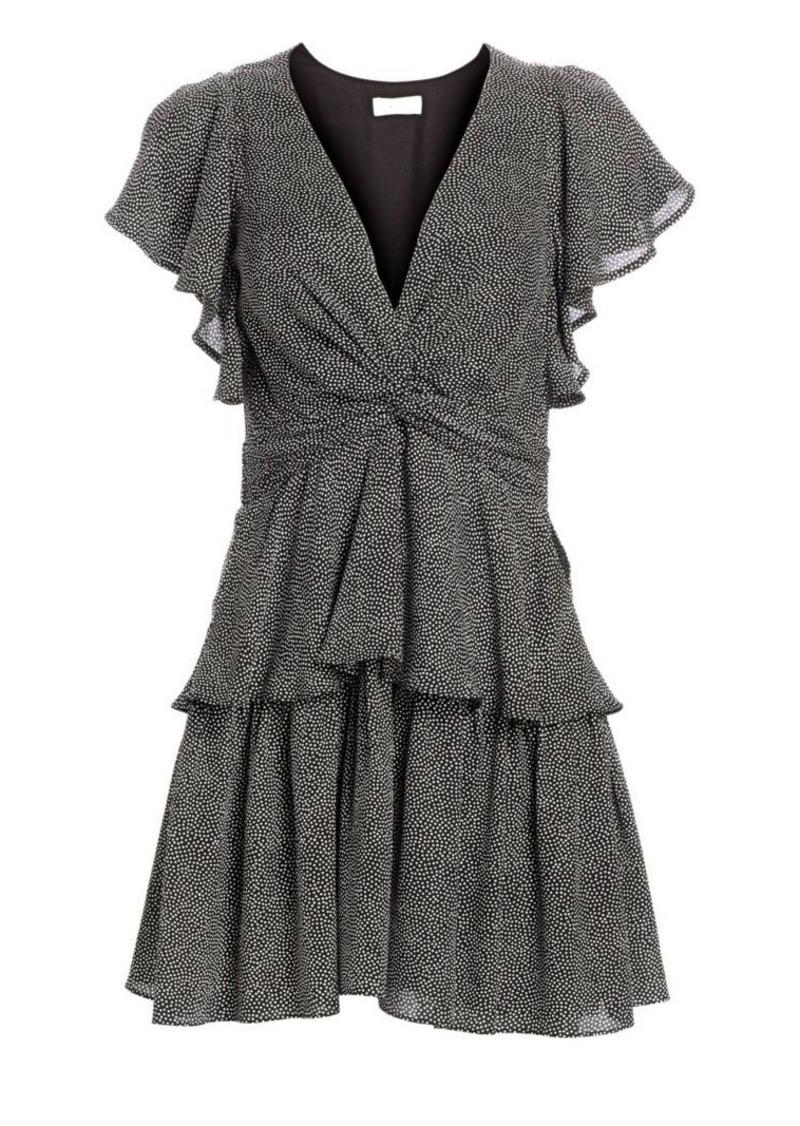 A.L.C. Viera Twist Tiered Silk Dress