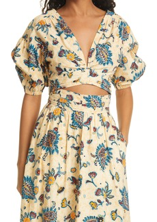 Women's A.l.c. Rylan Floral Crop Top