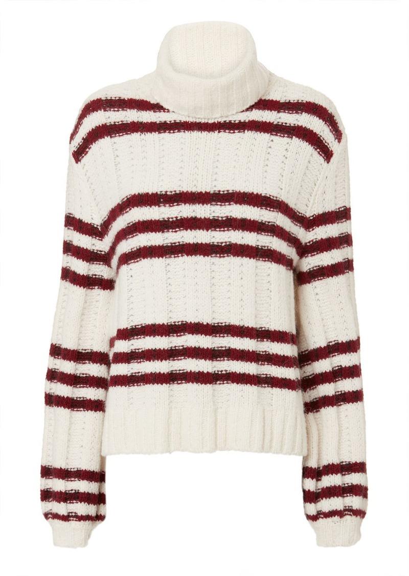 A.L.C. Zaira Striped Turtleneck