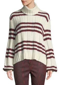 A.L.C. Zaira Striped Turtleneck Sweater