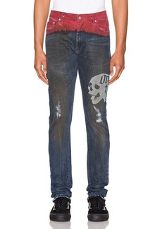 Alchemist Hold Etched Dip Dyed Jean