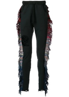 Alchemist distressed fringe track pants