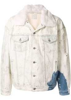 Alchemist faux-fur trim denim jacket