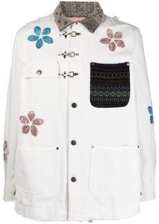 Alchemist floral-appliqué shirt jacket