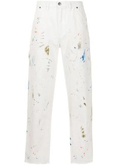 Alchemist paint splatter-print straight-leg jeans