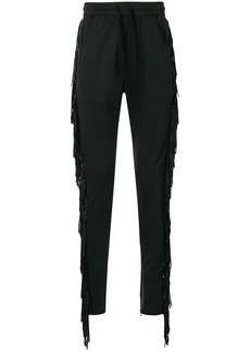 Alchemist side fringe track pants