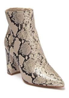 Aldo Acaynna Snakeskin Print Ankle Boot