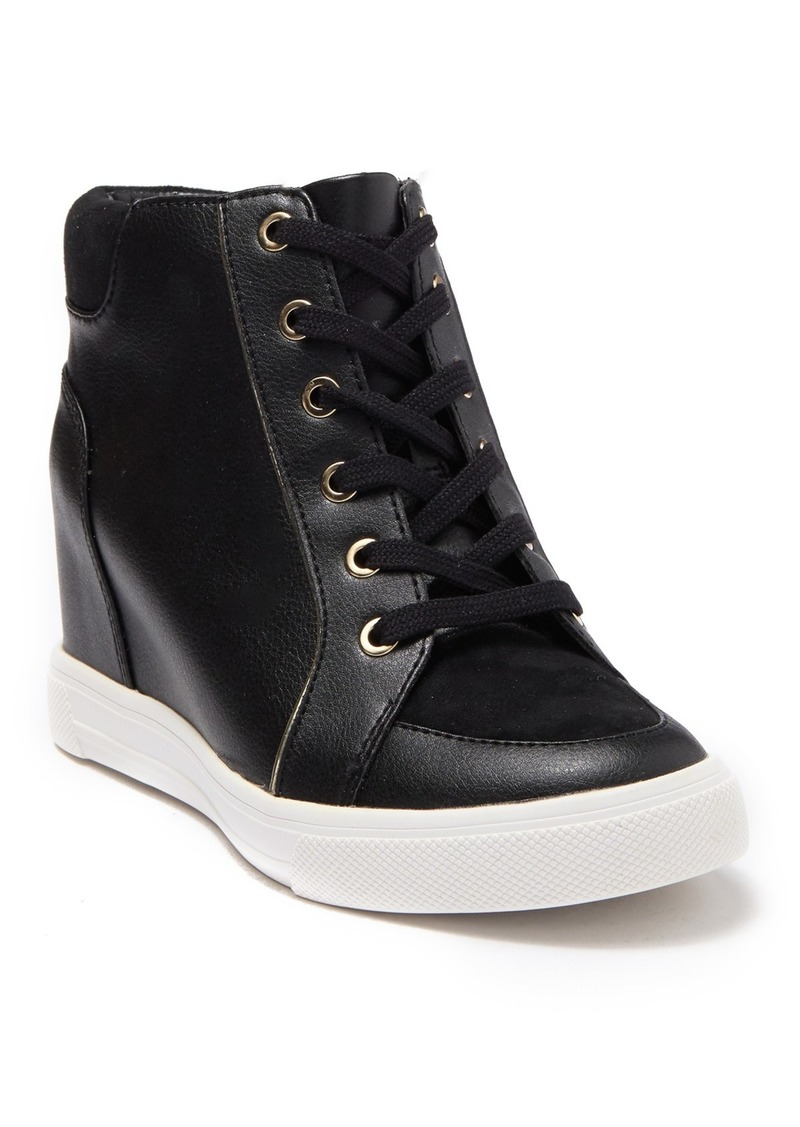 Aldo Aderadda Leather Wedge Sneaker