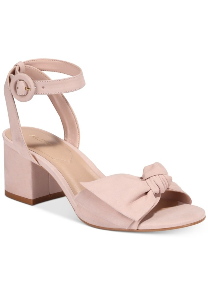 a62e4568730 SALE! Aldo Aldo Beautie Two-Piece Block-Heel Sandals Women s Shoes
