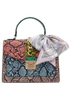 ALDO Glendaa Colorblock Snake Print Handbag