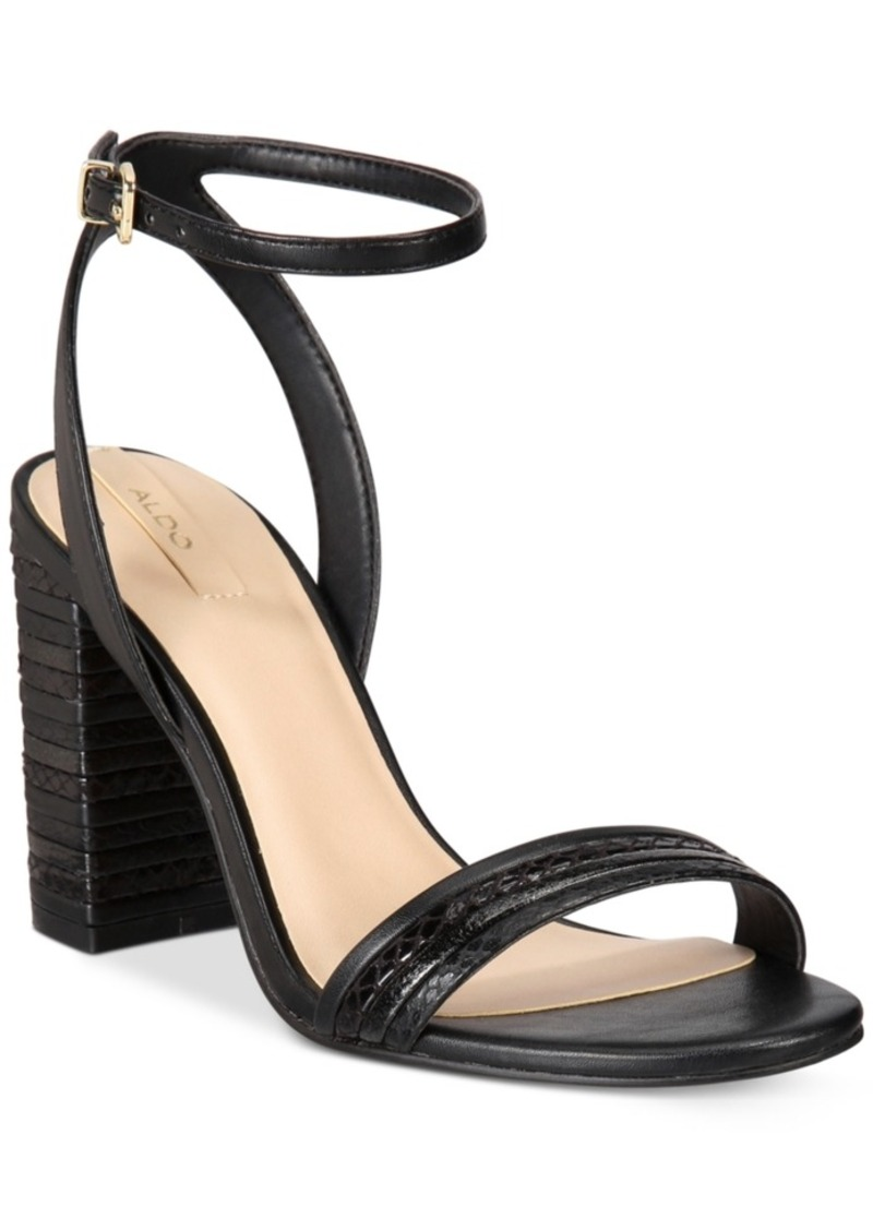 Aldo Aldo Izabela Block Heel Two Piece Sandals Women S