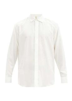 Aldo Maria Camillo Double-cuff silk dress shirt
