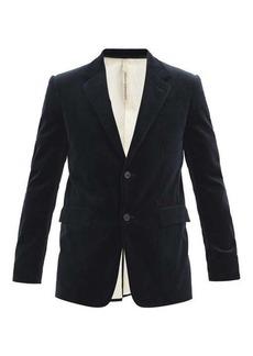 Aldo Maria Camillo Single-breasted velvet jacket