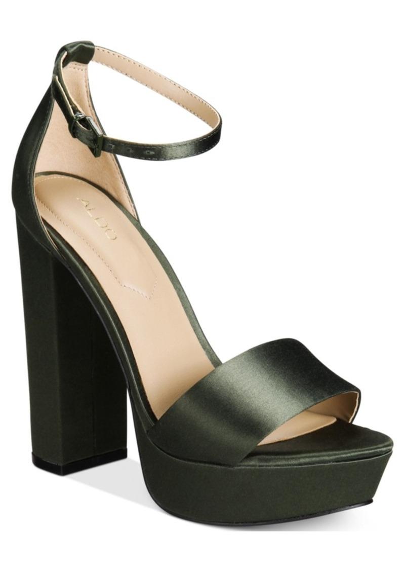 50ef71e4c27 Aldo Aldo Nesida Two-Piece Platform Block-Heel Sandals Women s Shoes ...