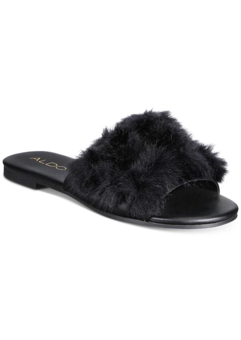 e7b370e0399 Aldo Aldo PomPom Slide Sandals Women s Shoes
