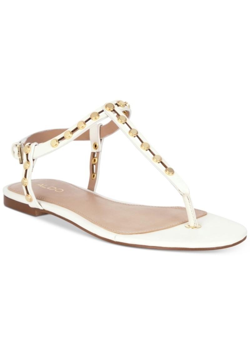 a48d8e014 Aldo Aldo Starda Studded Flat Sandals Women s Shoes Now  24.93