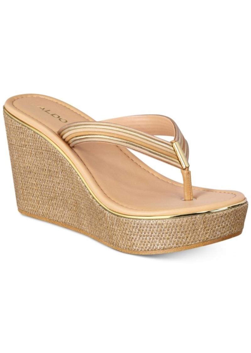 c13676f039d Aldo Aldo Women s Capricchia Platform Wedge Sandals Women s Shoes