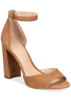 Aldo Women's Elvyne Two-Piece Block-Heel Sandals Women's Shoes