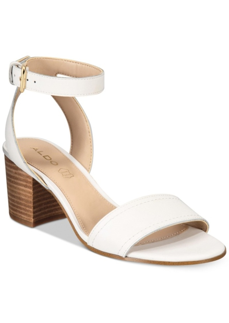 Two Piece Block Heel Sandal