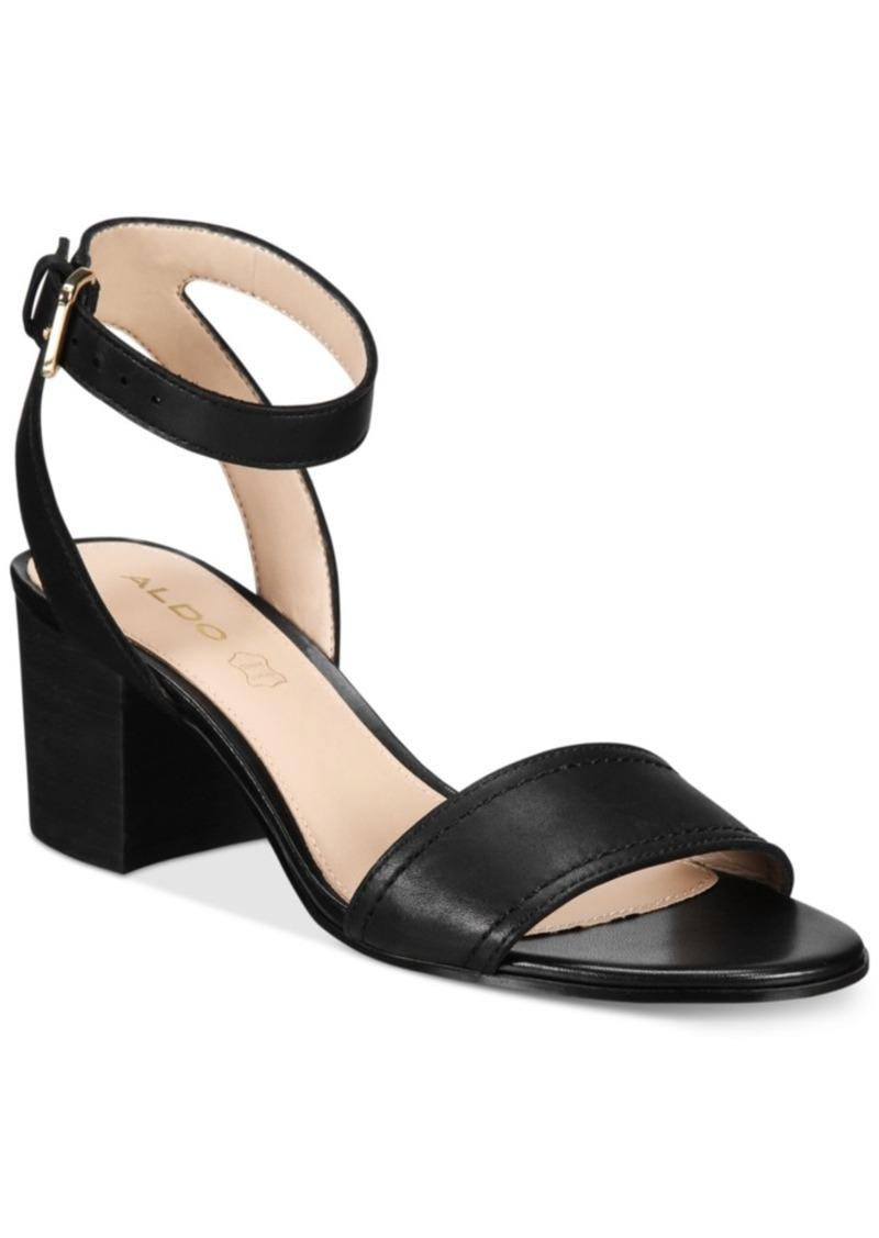 Aldo Aldo Women S Lolla Two Piece Block Heel Sandals Women