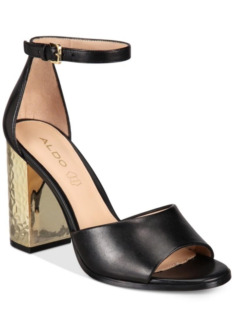 Aldo Aldo Women S Nilia Two Piece Block Heel Sandals Women