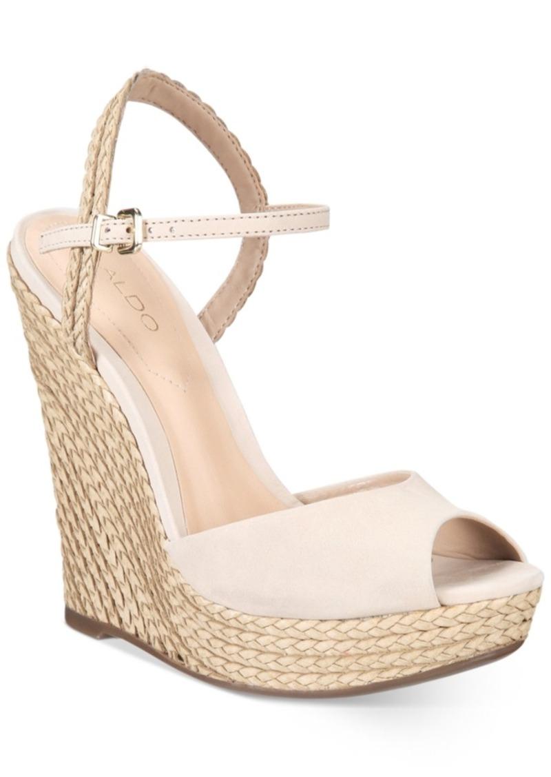 78ef65d30d2 Aldo Aldo Women s Shizuko Ankle-Strap Wedge Sandals Women s Shoes ...
