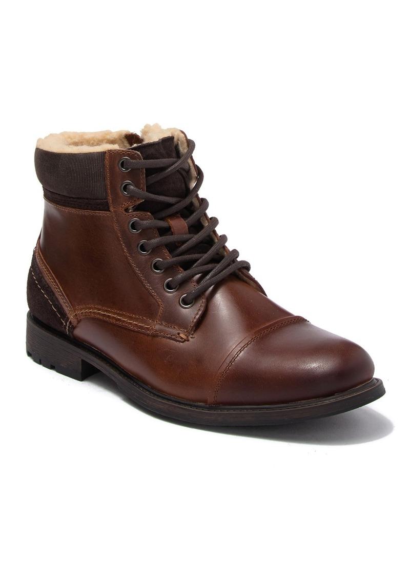 Aldo Briewiel Leather Faux Fur Boot