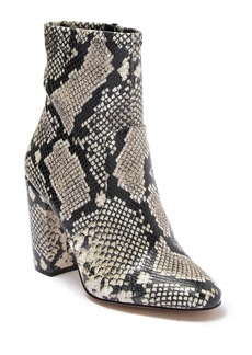 Aldo Haosien Croc Embossed Block Heel Ankle Boot