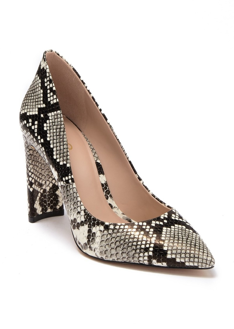 Qayria Snake Embossed Pump