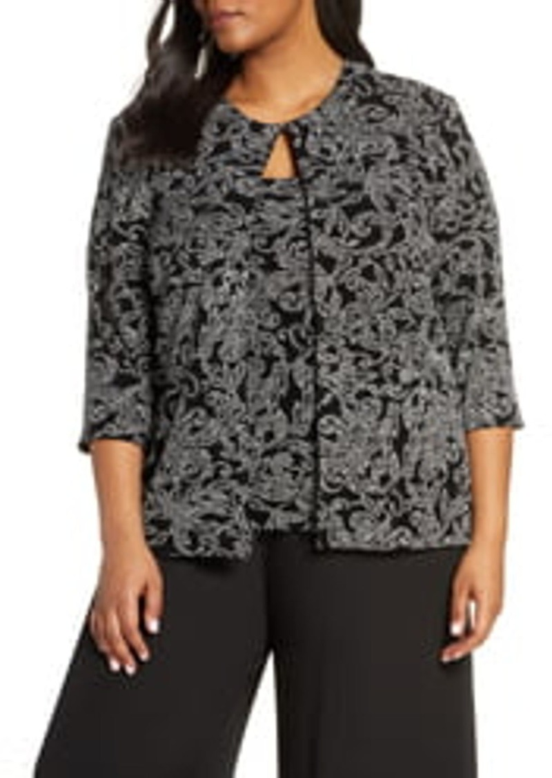 Alex Evenings 3/4 SLEEVE PRINTED TWINSET WIT
