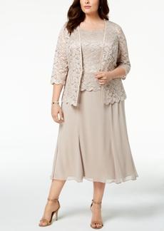 Alex Evenings 2-Pc. Plus Size Lace Jacket & Dress