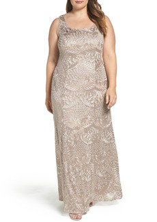 Alex Evenings A-Line Lace Gown & Jacket (Plus Size)