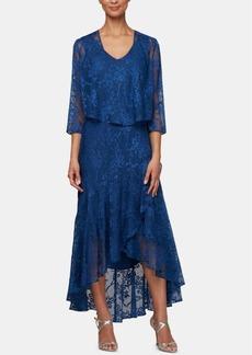 Alex Evenings Allover Glitter Sleeveless Dress & Jacket