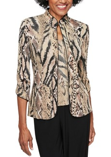 Alex Evenings Animal-Print Twinset