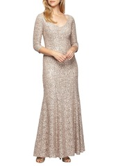 Alex Evenings Beaded A-Line Gown