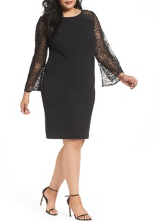 Alex Evenings Bell Sleeve Shift Dress (Plus Size)