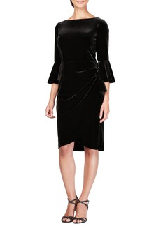 Alex Evenings Bell Sleeve Velvet Dress