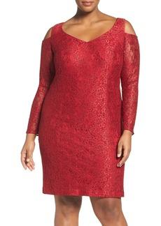 Alex Evenings Cold Shoulder Sheath Dress (Plus Size)