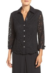 Alex Evenings Collared Lace Blouse