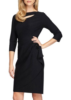 Alex Evenings Cutout Sheath