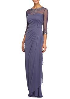 Alex Evenings Embellished A-Line Gown (Regular & Petite)