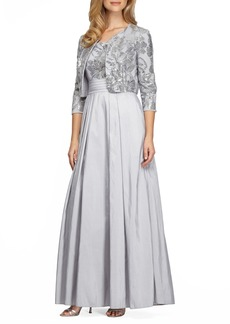 Alex Evenings Embellished Ballgown with Bolero Jacket