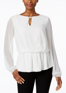 Alex Evenings Embellished Blouson Blouse