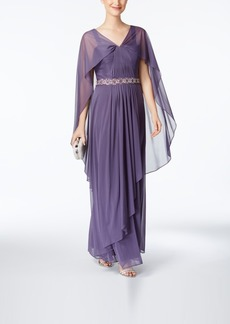 Alex Evenings Embellished Chiffon-Overlay Gown