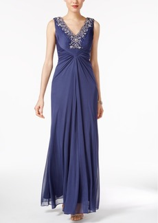 Alex Evenings Embellished Draped Gown